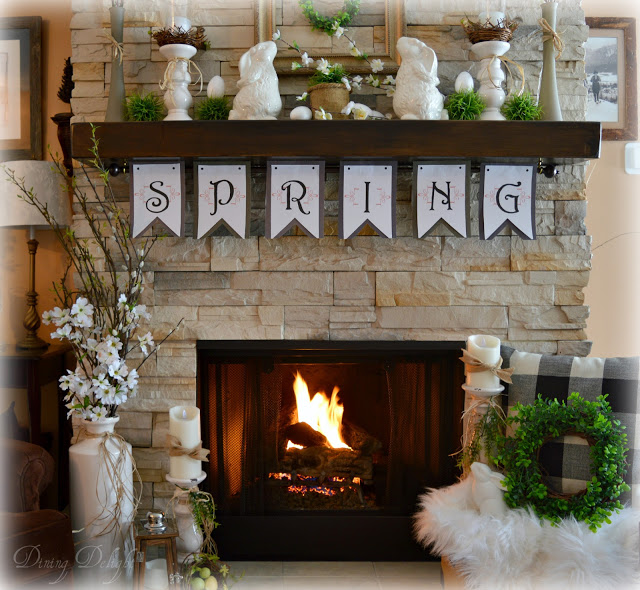 Spring Mantel | Spring Decor Ideas | Global Home Investing